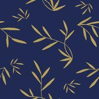twigs with leaves seamless pattern in flat style vector