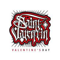 valentin day vector lettering in gothic style