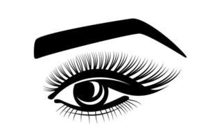 logo de ojo con pestañas vector