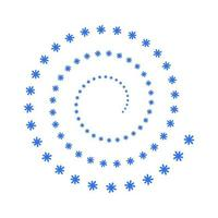 spiral snowflakes on white background vector