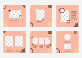 plantilla de publicación de redes sociales de moda. diseño de diseño de banner de vector. vector