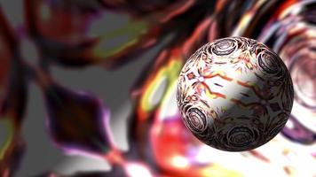 Realidad virtual resplandor multicolor esfera hipnótica animación de bucle video