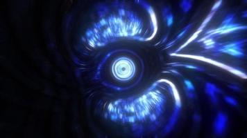 boucle de vortex futuriste 3d néon bleu video