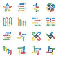 variedad de diagramas visuales vector