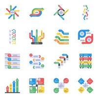Statistics Flat Icons vector
