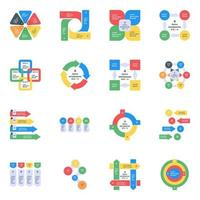 Modern Statistics Flat Icons vector