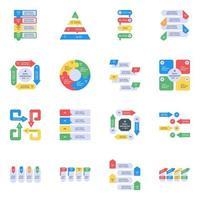 Data Analytics Flat Icons vector
