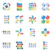 Business Infographics Flat Icons vector