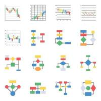 Trendy Candlestick and Workflow vector