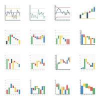 gráficos de cascada planos vector