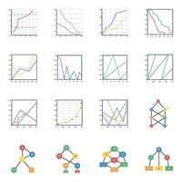 diagramas de árboles binarios planos vector