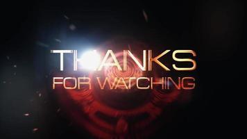 gracias por mirar con bengalas de ciencia ficción video