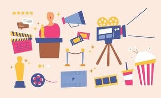 Movie equipment and film festival vector
