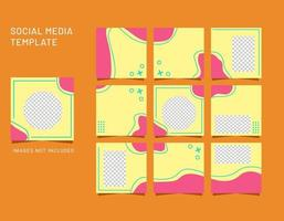 social media templates, banners, blogs, fashion sales pitches. Fully editable square post frame puzzle sales posters. Vector backgrounds of beautiful abstract shapes