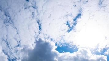blue sky with white clouds background photo