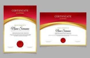Elegant Certificate of Achievement Template vector