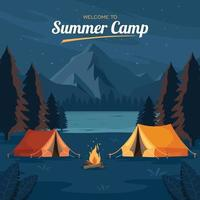 Welcome to Summer Camp Background vector