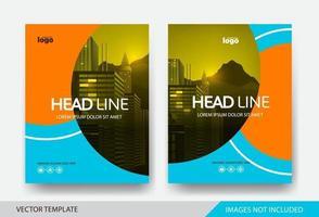 Corporate book cover design template vector