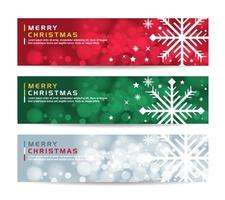 merry christmas Abstract geometric banner background vector