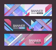 Abstract geometric banner background vector