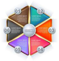 3d Infographic template design vector