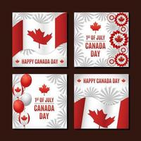 Canada Day Festivity Card Collection vector