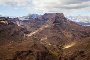 Mountain landscape on Gran Canaria island photo