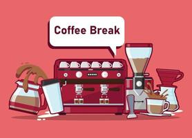 Coffee break of coffee cafe Vector illustration isolated