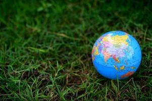 World Environment Day .Love the world .Hand holding a globe photo