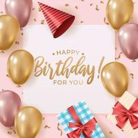 celebrar la fiesta de cumpleaños para ti vector