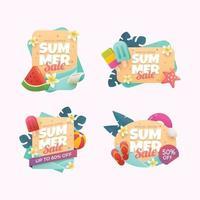 Set of Summer Sale Special Offer Badge vector