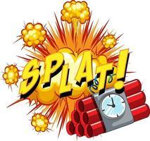 Comic speech bubble with splat text vector