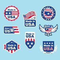 Made in USA Logo Template Set vector