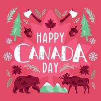 Typographic Background for Canada Day vector