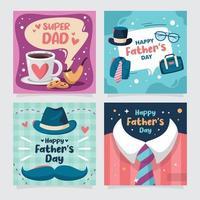 tarjeta de felicitación del día del padre con elemento decorativo vector