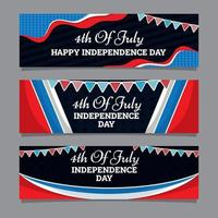 4th of July Banner Concept vector