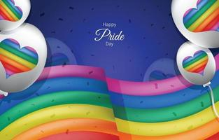Colorful Happy Pride Day Background Template vector
