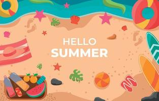Summer Beach Element Background vector