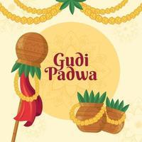 fondo del festival gudi padwa vector