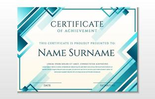 Modern Abstract Certificate Template vector