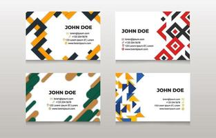 Abstract Pattern Business Card Template vector