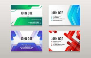 Abstract Colorful Business Card Template vector