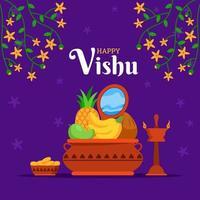 Happy Vishu Celebration Background vector