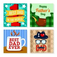 Father's Day Greeting Card Template vector
