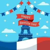 Bastille Day Celebration Background vector