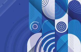 Colorful Rounded Shapes Composition Concept vector