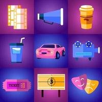 Drive In Movie Icon vector