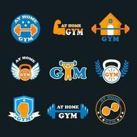 gimnasio en casa logo vector