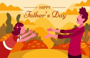 Father's Day Dramatic Flat Background Design vector