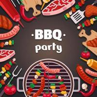 Barbeque Outdoor Summer Activity Background Design vector